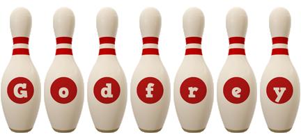 Godfrey bowling-pin logo
