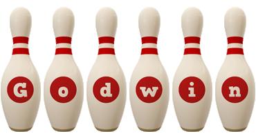 Godwin bowling-pin logo