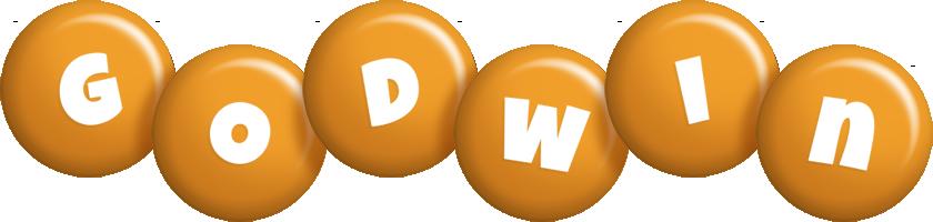 Godwin candy-orange logo
