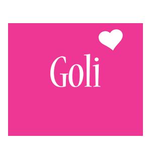 Goli love-heart logo