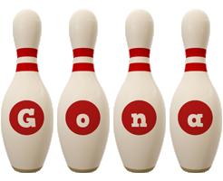 Gona bowling-pin logo