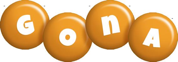 Gona candy-orange logo