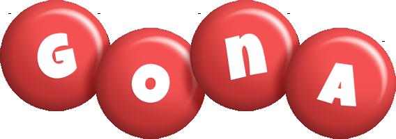 Gona candy-red logo