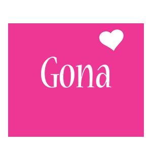 Gona love-heart logo