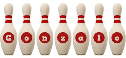 Gonzalo bowling-pin logo