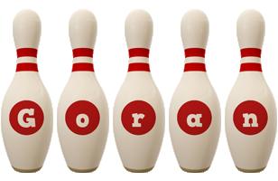 Goran bowling-pin logo