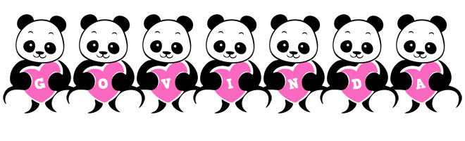 Govinda love-panda logo