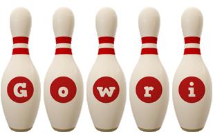 Gowri bowling-pin logo