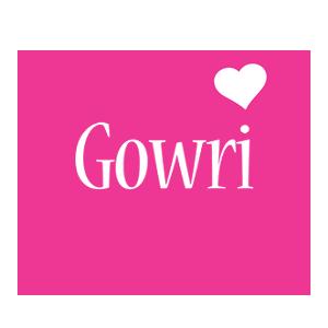 Gowri love-heart logo