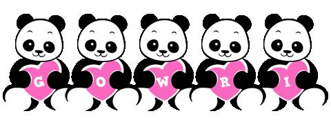 Gowri love-panda logo