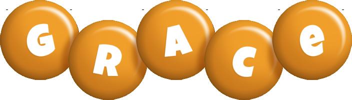 Grace candy-orange logo