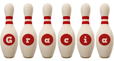 Gracia bowling-pin logo