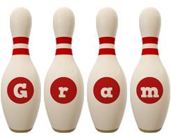 Gram bowling-pin logo