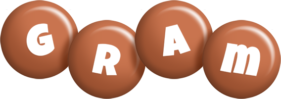 Gram candy-brown logo