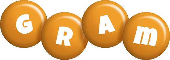 Gram candy-orange logo