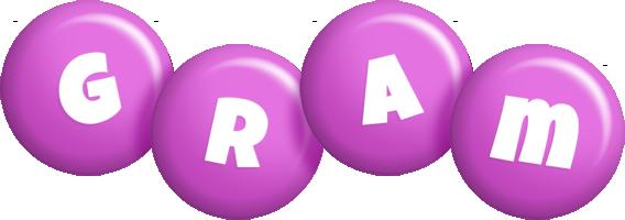 Gram candy-purple logo