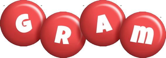 Gram candy-red logo