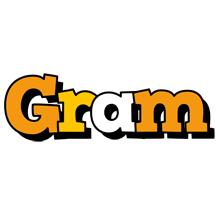 Gram cartoon logo