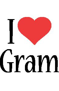 Gram i-love logo