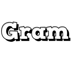 Gram snowing logo