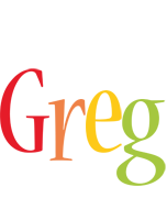 Greg birthday logo