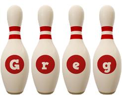 Greg bowling-pin logo