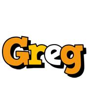 Greg cartoon logo