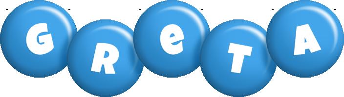 Greta candy-blue logo