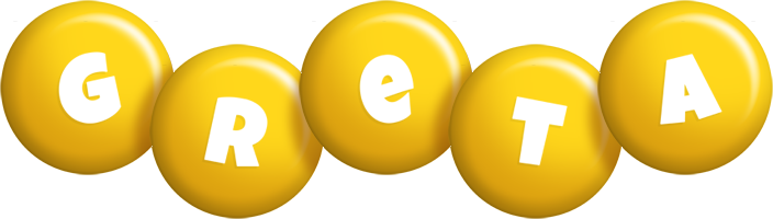 Greta candy-yellow logo