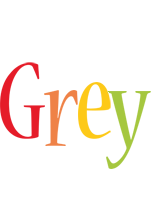 Grey birthday logo