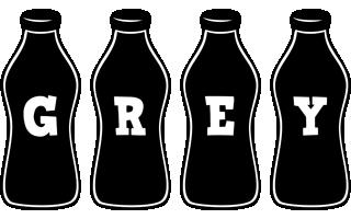 Grey bottle logo