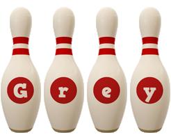 Grey bowling-pin logo