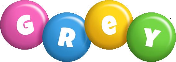 Grey candy logo
