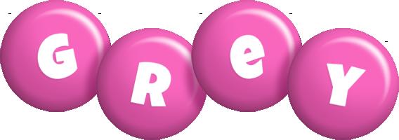 Grey candy-pink logo