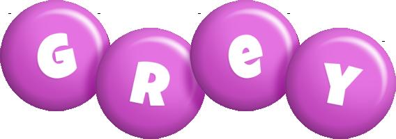 Grey candy-purple logo