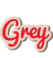 Grey chocolate logo