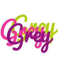 Grey flowers logo