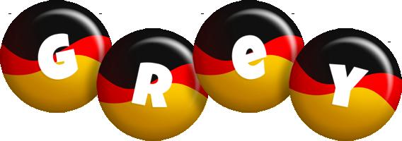 Grey german logo