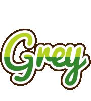 Grey golfing logo