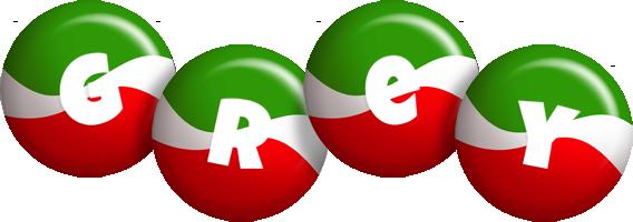 Grey italy logo
