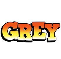 Grey sunset logo