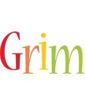 Grim birthday logo