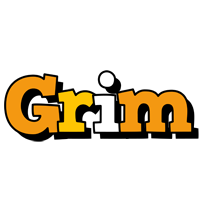 Grim cartoon logo