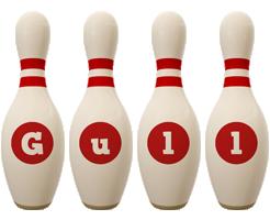 Gull bowling-pin logo