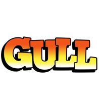 Gull sunset logo