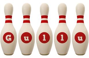 Gullu bowling-pin logo