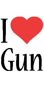 Gun i-love logo