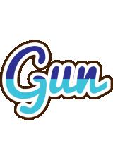 Gun raining logo