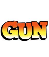 Gun sunset logo