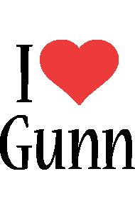Gunn i-love logo